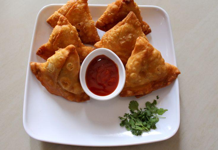 Samosa or aloo samosa is a cone shaped/ triangle shaped snack recipe stuffed with aloo matar stuffing