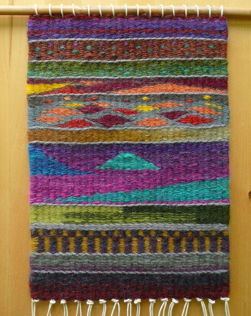 tapestry sampler off the loom by lovefibre, via Flickr ... inspiration, not tutorial