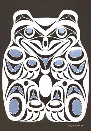Coast Salish Spirit Bear Art Card- Joe Wilson