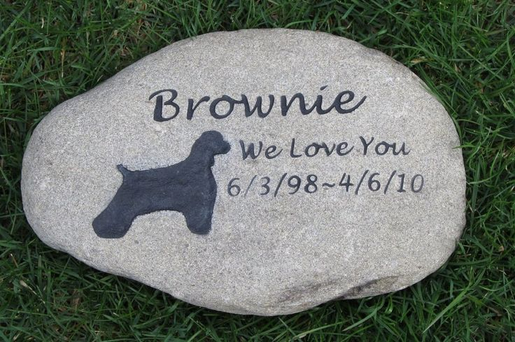 Cocker Spaniel Pet Memorial Stone Cocker Spaniel Memorials Grave