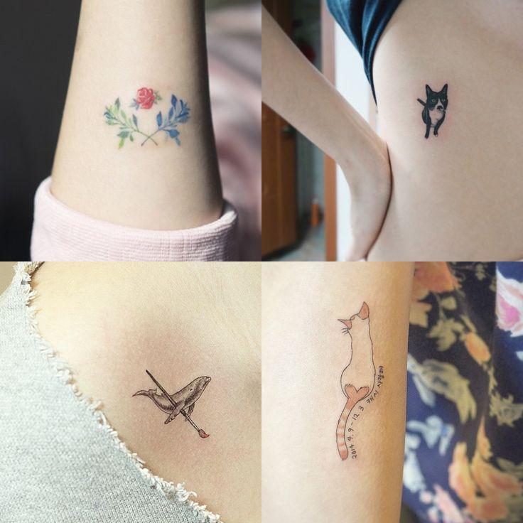 Short Tattoo Quotes Korean: Delicate Korean Tattoos: Soltattoo
