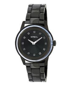 Take a look at this Black Swarovski Crystal Orchestra Watch - Women by Breil on #zulily today!