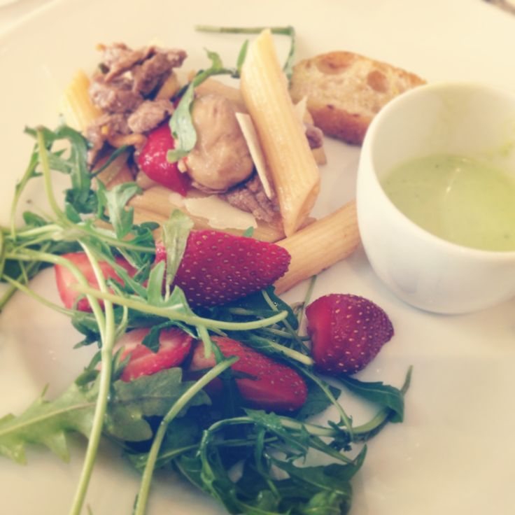 Strawberry Salad & Green Pea & Mint Soup @ The Westcliff