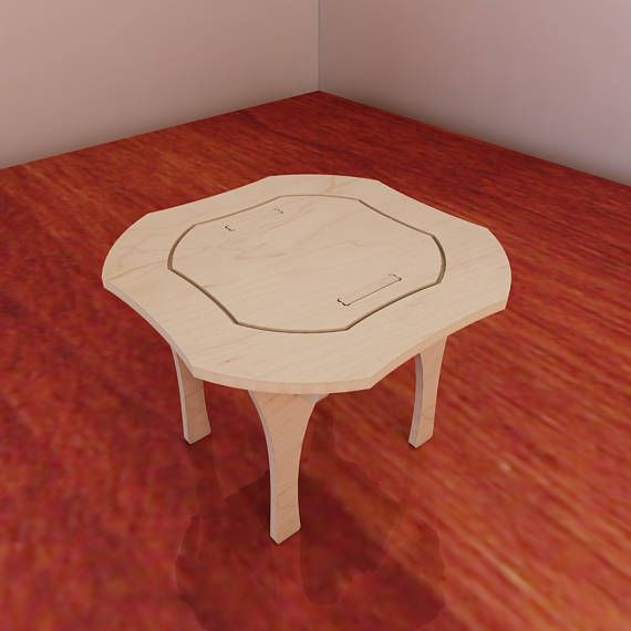 Table and chairs for Barbie. Vector model for CNC router and laser cutting. Barbie-size furniture. CNC plans. Plywood 5mm.