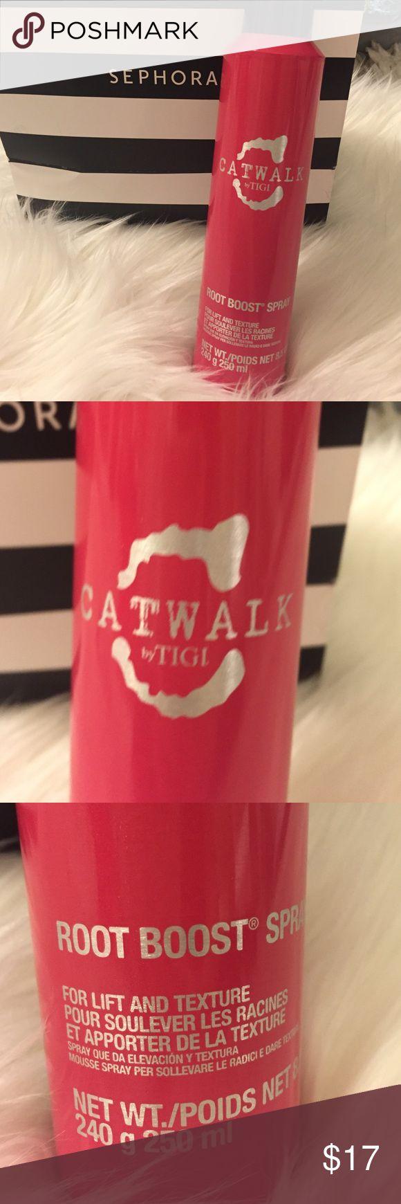 New Catwalk TIGI Root Boost Spray New Catwalk by TIGI Root Boost Spray for lift &  texture. Catwalk by TIGI Makeup