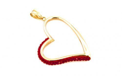 Zlatý přívěsek Red Heart Big
