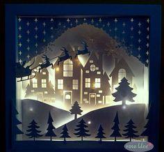 Cadre de lumière de Noël - trèfle rose - bricolage, couture, traçage