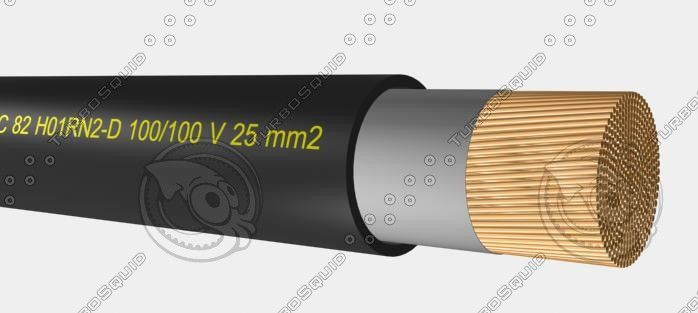 3D Model Welding Cable H01n2 D 100 100 - 3D Model