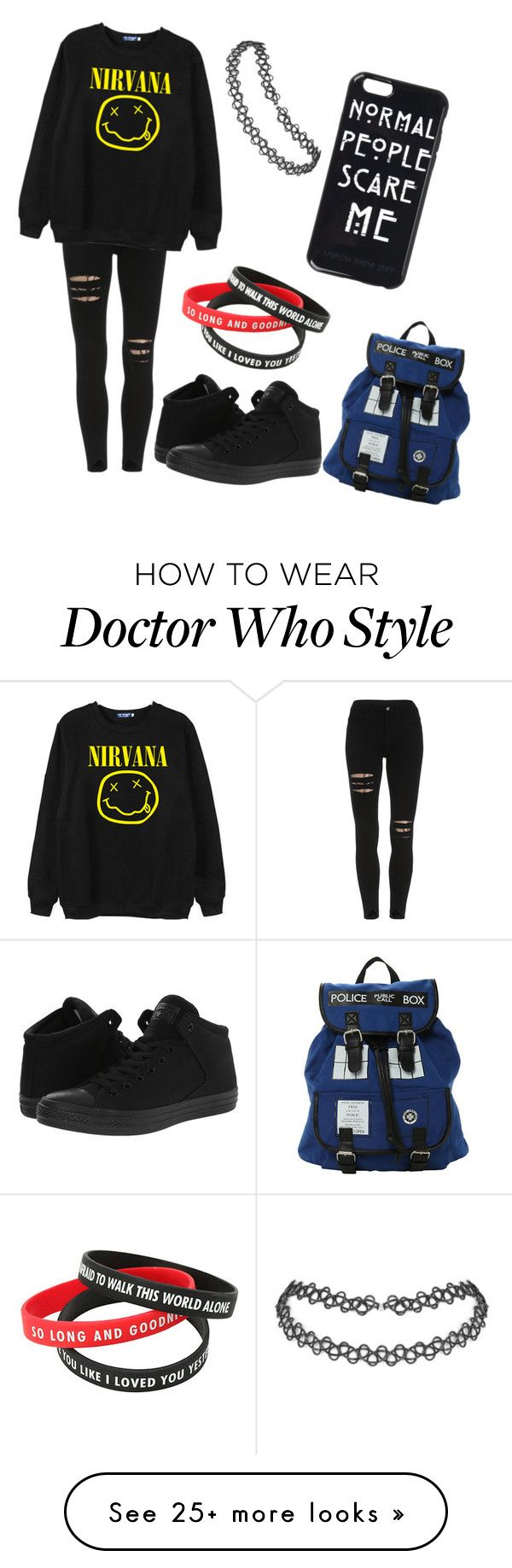 """Outfit"" by bandsareswag on Polyvore featuring Chicnova Fashion and Converse"