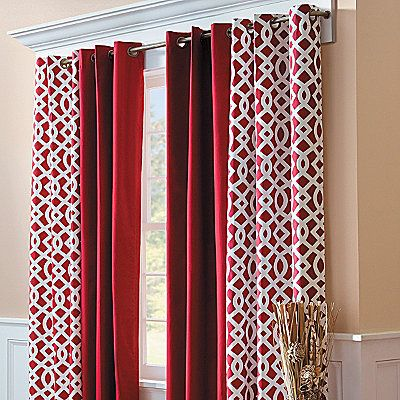 Grommet Top Insulated Curtain Pair-Trellis Print - at Improvements, surprisingly festive!