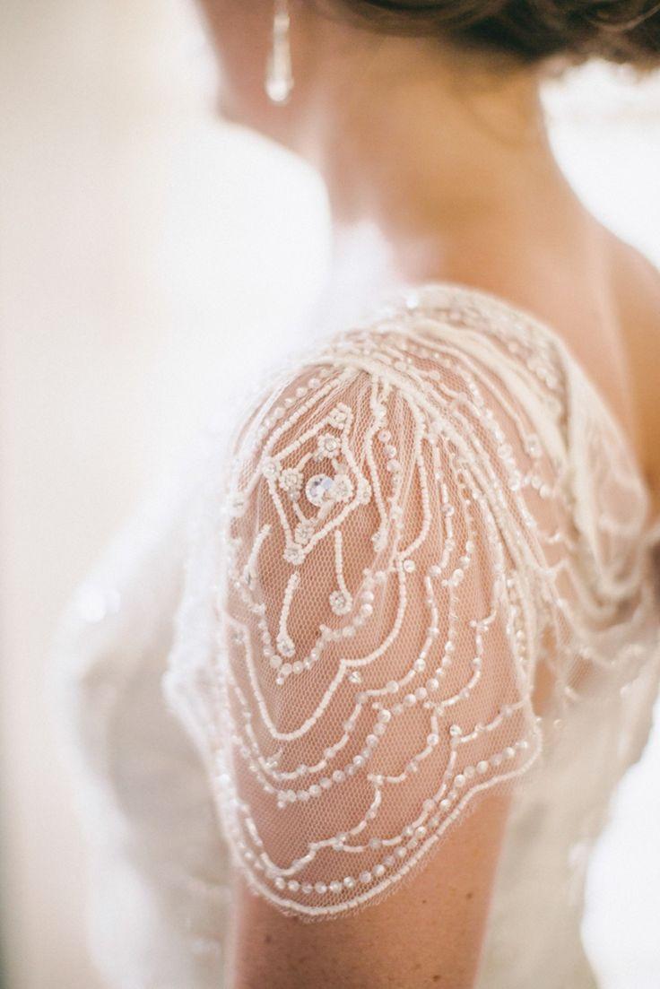 Jenny Packham Wedding Gown on #SMP Weddings: http://www.stylemepretty.com/2013/12/27/1920s-inspired-healdsburg-wedding/ Scott Andrew Studio