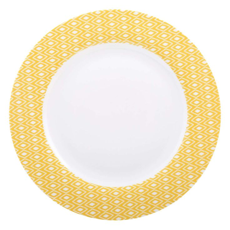 Yellow Geo Skandi Collection Dinner Plate Dishes I Love