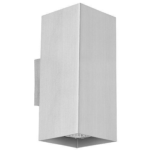 The Madras Ceiling/Wall Light by Eglo casts generous crisp up and downlight in a Transitional style. Madras features a rectangular shade and wall plate in an Aluminium finish. Available in Small or Large. ADA Compliant.