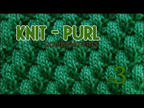 Broken Diagonal Rib |  Knit & Purl Stitch Combinations