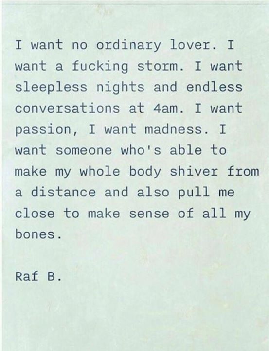 Can I be that crazy lover. Can we share those sleepless nights laughing about madness. I miss you madly.