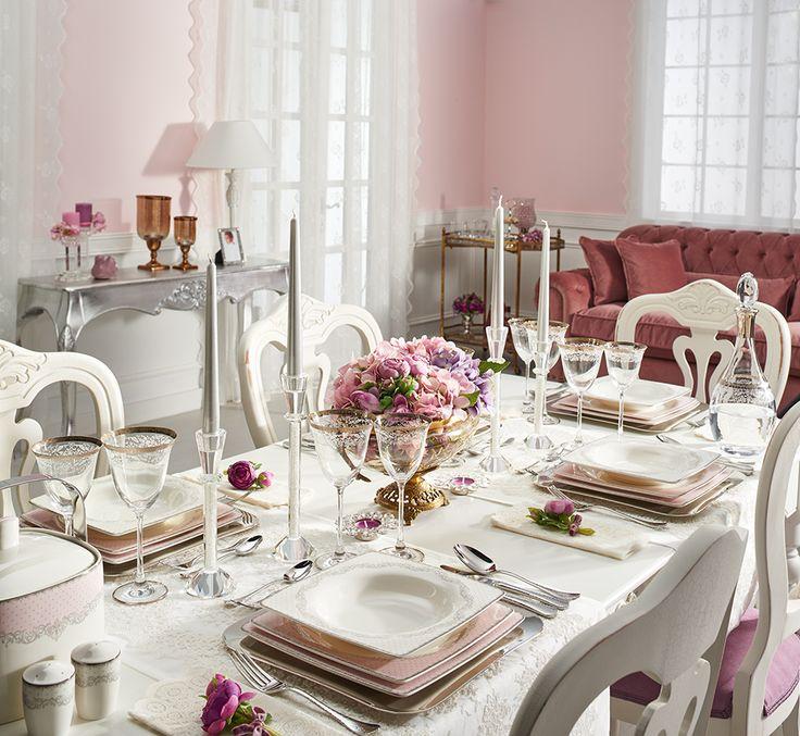 Emily Pink Yemek Takımı