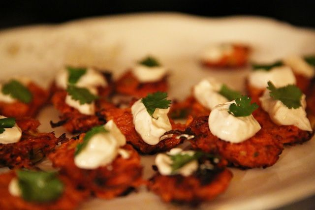carrot fritters from the dinner bell on vice