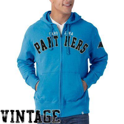 '47 Brand Carolina Panthers Striker Full Zip Vintage Hoodie – Panther Blue