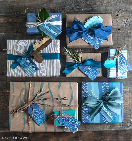 Printable Gift Tags for Men | Lia Griffith
