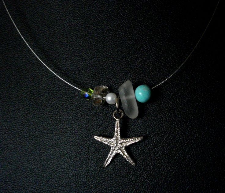 handmade pendant of silver 925,crystal,pearl and turquoise