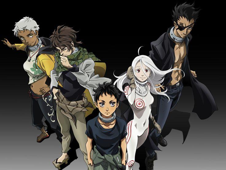 Deadman Wonderland Karako Koshio, Nagi Kengamine, Ganta Igarashi, Shiro and Kiyomasa Senji (from left)