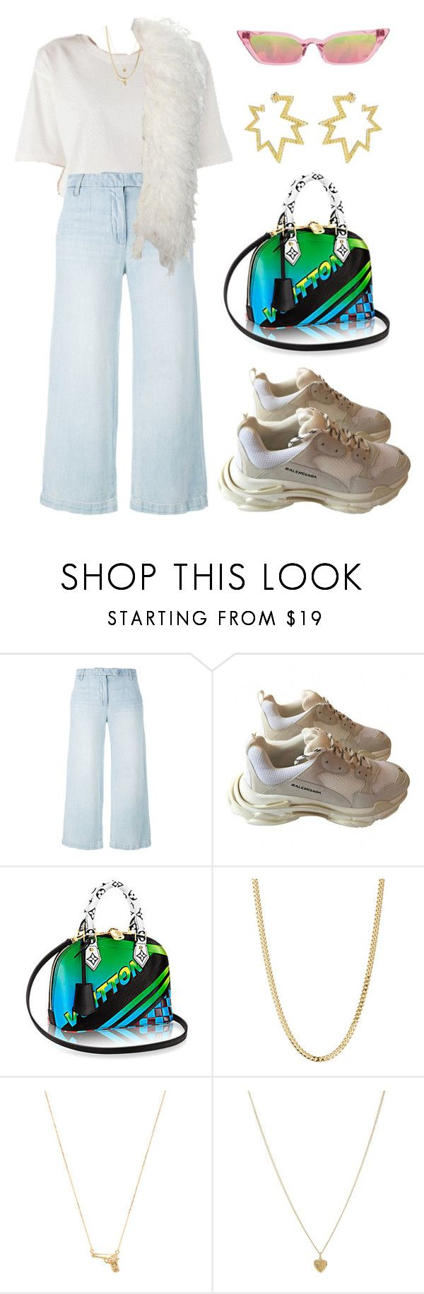 """Untitled #2039"" by lucyshenton ❤ liked on Polyvore featuring Current/Elliott, Balenciaga, Poppy Lissiman, Bianca Pratt, Joolz by Martha Calvo, Susan Caplan Vintage and Sabine Getty"