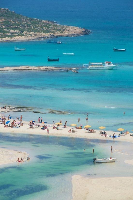 Balos Bay in Gramvousa, Crete, Greece
