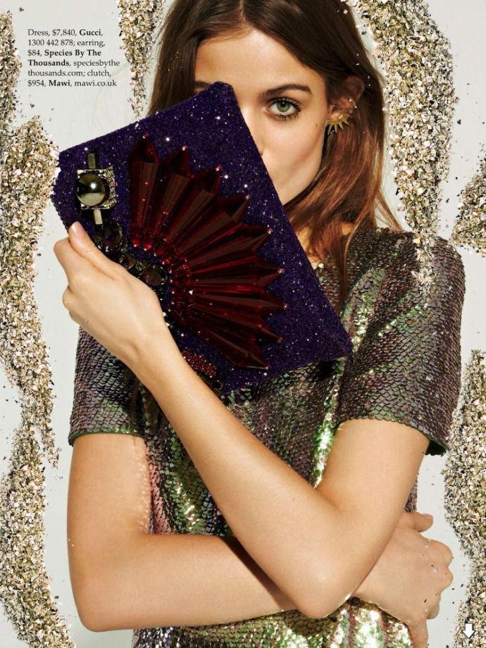 Модные коллажи в журнале Elle Australia