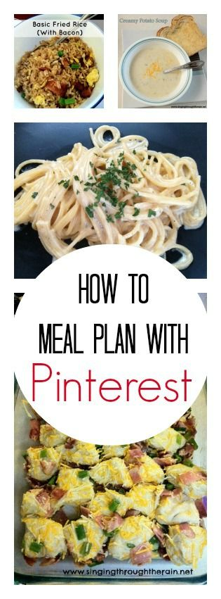 How to Meal Plan With Pinterest - Busy mom? Crazy schedule? Learn how to meal plan like a pro!