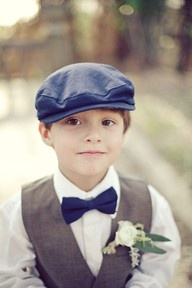 ring bearer vests grey - definitely want this look for the boys, minus the hat