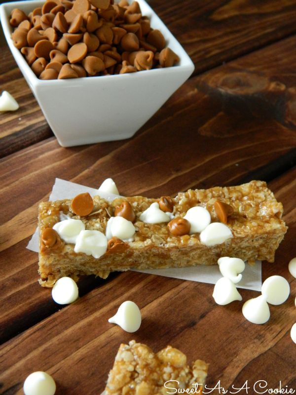 Sweet As A Cookie: No Bake Biscoff Cinnamon Roll Granola Bars