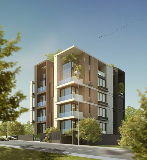Modern Residential Exterior By Ar Sagar Morkhade: Residential Building, Jordan, Amman #projects