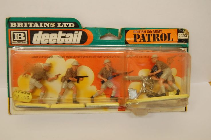 VINTAGE BRITAINS DEETAIL BRITISH 8TH ARMY PATROL MIB