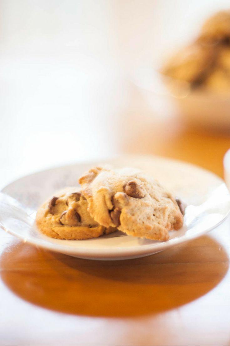 Chocolate Chip Cookies  Per serve (one cookie): 596 kilojoules, 142 Calories, 1.0 exchanges  #Vegetarian #Type1Diabetes #Recipe