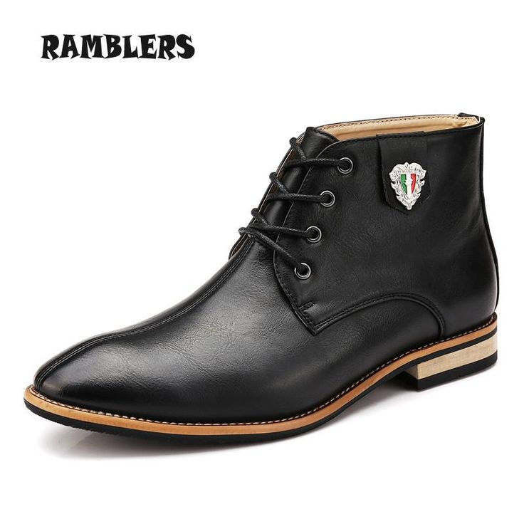 Leather Boots For Men - Dress Shoes - Ankle Boots
