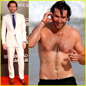 Bradley Cooper Premieres 'Hangover III', Etro suit/ Swims Shirtless in Rio!