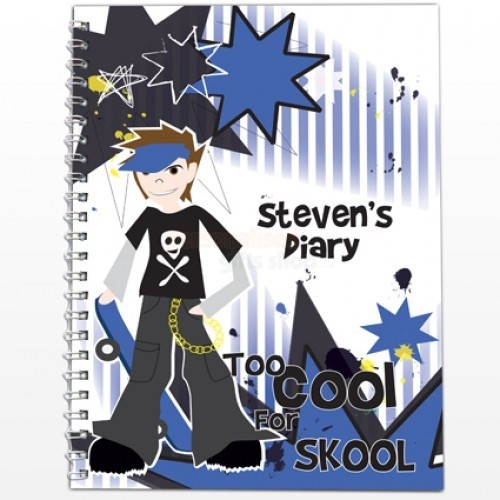 Personalised Diary - Too Cool Boy  from Personalised Gifts Shop - ONLY £7.95