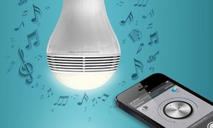 Groupon - MIPOW PLAYBULB Bluetooth Smart LED Speaker Light Bulb in [missing {{location}} value]. Groupon deal price: $49.99