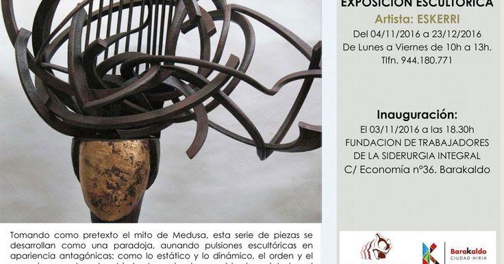La Fundación de Trabajadores expone la serie de esculturas de Eskerri sobre el mito de Medusa