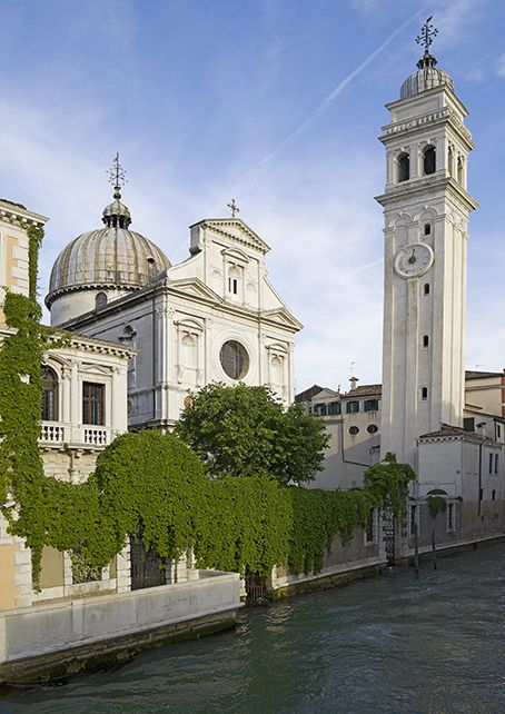 The Campanile of San Giorgio dei Greci in Venice began tilting during construction, just like it's famous cousin in Pisa. Jeff