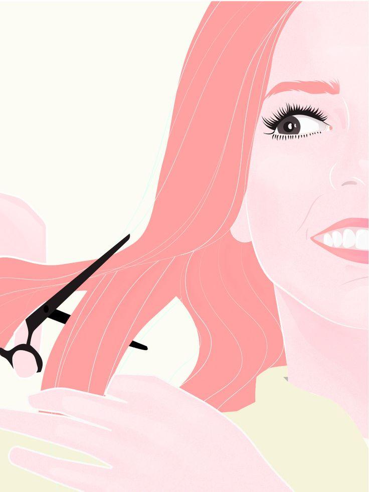 Keine Lust auf Friseur? So kannst du deine Spitzen einfach selber schneiden!