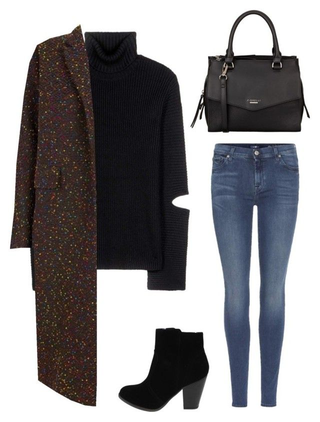 """Untitled #61"" by fhk21 on Polyvore featuring Public School, 7 For All Mankind, The 2nd Skin Co. and Fiorelli"