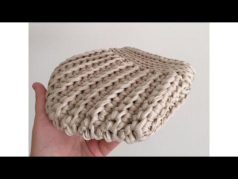 Penye İpten çanta yapımı -2 - YouTube