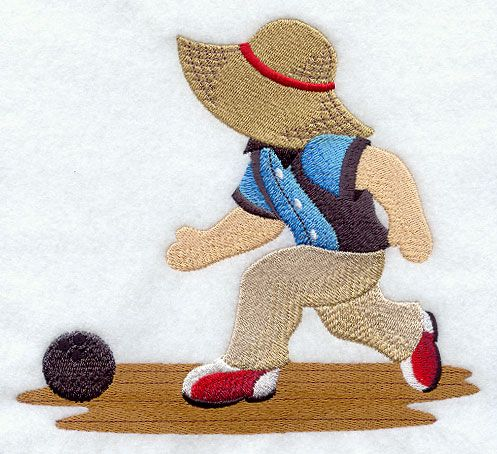 ** Bowling Strike! Fisherman Fred Block Of The Month Pattern Used As Applique Quilt @emlibrary