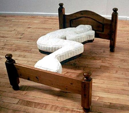 This it stupid. I can see myself coming home drunk and falling asleep across the bed's knees LOL