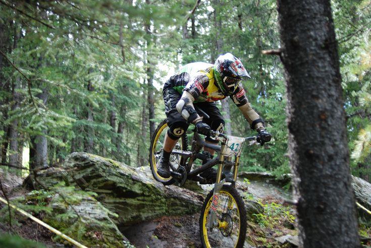 Downhill Mountain biking... Rent a nicer bike next time