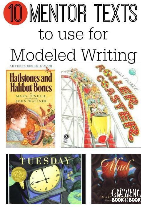 Great mentor texts to use for for modeled writing. Love this list!