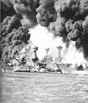 On December 7th, 1941 at 7:55 am, the Japanese attacked military airfields and Pearl Harbour with 181 torpedo dropping planes, dive bombers, horizontal bombers and fighters. Overall, twenty-one ships of the U.S. Pacific fleet were damaged and the death toll reached 2,350, along with 68 civilians and 1,178 injured.