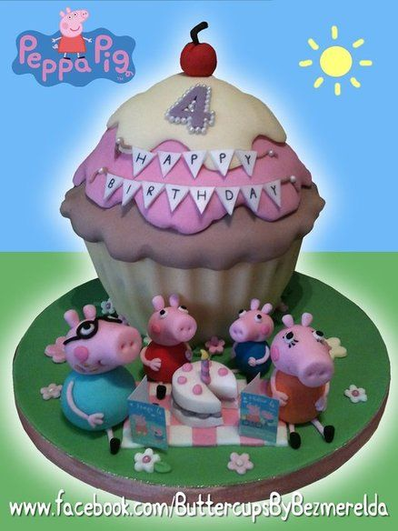 Peppa Pig birthday tea party - by Bezmerelda @ CakesDecor.com - cake decorating website