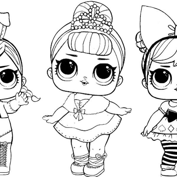 lol coloring pages sugar with two pet dolls - free